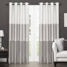 White And Gray Striped Curtains by Buy Grommet Striped Curtains From Bed Bath U0026 Beyond