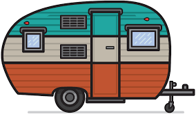 Vintage Camping Cliparts