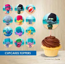 Dekoration Etiketten Der Trolle Fr Cupcakes Urlaub Etsy