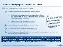 Transforming Darden The Starboard Value Paper on Olive Garden Etc