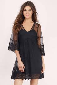 black dress lace dress floral slip dress shift dress 13