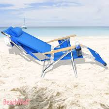 Back Jack Chair Walmart by Amazon Com Beachmall Beach Chair With Drink Holder And Storage