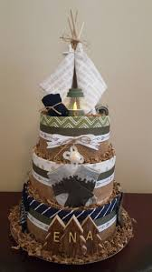 Camping Themed Diaper Cake Baby Shower Centerpiece Gift So Fun Check Out