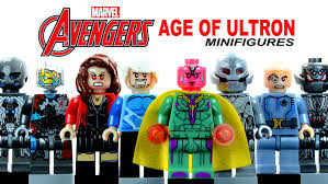 Avengers Age Of Ultron 2015 LEGO KnockOff Minifigures Set 2 W Scarlet Witch Quicksilver Vision