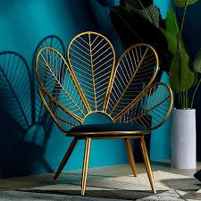 nordic modren pfau form wohnzimmer stuhl sofa stuhl schmiedeeisen ins stuhl freizeit angepasst kreative einfache minimalistischen