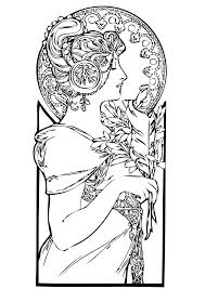 Free Coloring Page Adult Art Beautiful Woman Pages For Adults Printable Christmas Hearts Color Online