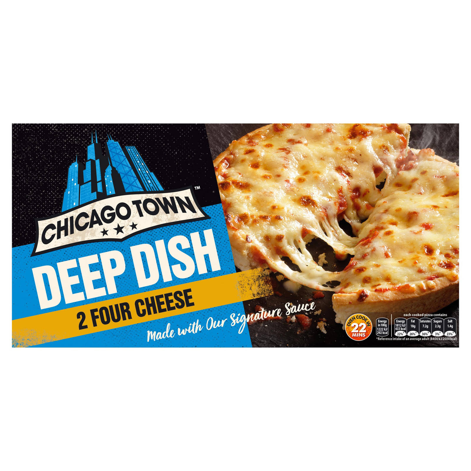 Chicago Town The Deep Dish Pizza - Four Cheese, 310g, 2pcs