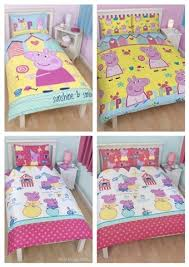 PEPPA PIG Seaside Or Cupcake SINGLE Double Doona Quilt Cover Set