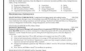 Resume Sample For General Manager Position Elegant Hr India