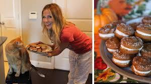 Pumpkin Whoopie Pie Recipe Pinterest by Katherine Whaley U0027s Mini Pumpkin Whoopie Pies Abc13 Com