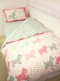 Echo Jaipur Bedding by Catherine Lansfield Scottie Dog Single Duvet Cover Set Dog