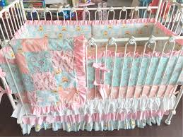coral mint pink white dream catcher feather deer tee crib