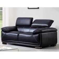 ventes uniques canapes vente unique canapé 2 places en cuir macelo noir 170cm x 95cm x