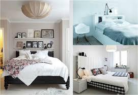 chambre avec lit noir design interieur tête lit avec rangement chambre coucher adulte