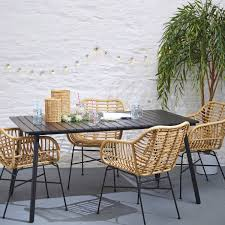 Isaac Faux Rattan In/Outdoor Dining Chair - Set Of 4   Meadows & Byrne Set Of Six Leatherbound Rattan Ding Chairs By Mcguire Eight Brge Mogsen For Sale At 1stdibs Vintage Bentwood Of 3 Stol Kamnik Cane And Rattan Fniture Five Shop Provence Oh0589 Outdoor Patio Wicker With Arms Teva Bora 2 Verona Pair Garden Fniture Brown Muestra Natural Teak Wood Woven Chair Zin Home Hospality Kenya Mcombo Poolside Cversation C Capris And Ottomans Sc753 Weathered Gray