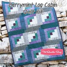 Berrymint Pre Cut Twelve Block Log Cabin Quilt Kit Featuring