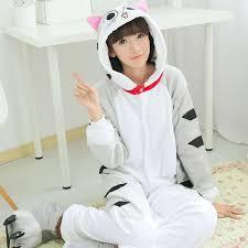 flannel family animal pajamas one piece onsies onesies cosplay cat