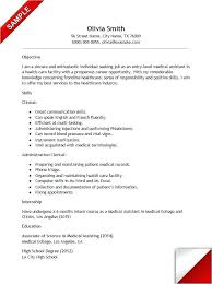 Medical Assistant Job Resume Skills For Entry Level With No Experience