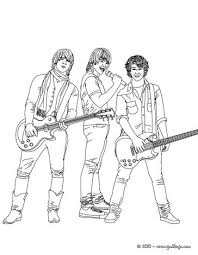 Jonas Brothers With Guitars Coloring Page