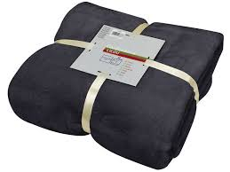 plaid noir pour canapé plaid 140x200 cm lilou coloris noir vente de plaid et couverture