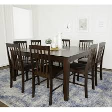 Walker Edison 60 Wood Square Dining Table Cappuccino