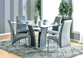 Contemporary Dining Room Sets White Modern Ultra Table And Chairs Ideas