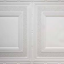 pattern 509 white and nickel 2 x4 faux tin ceiling tile
