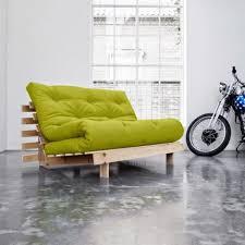 achat canapé convertible canapé convertible style scandinave roots futon vert pistache