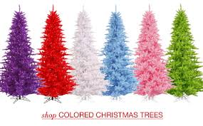 fine design colored christmas trees artificial santa s quarters