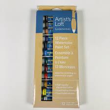 100 Loft Ensemble Artists 12 Piece Watercolor Paint Set Tubes