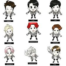 160207 EXO Coloring Book Character With Names AdminNJ