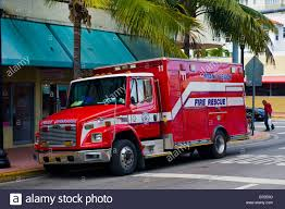 Miami Beach , Emergency Service , Fire Rescue Truck ,