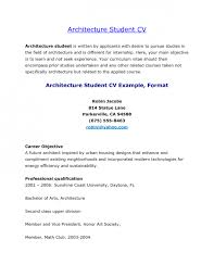 Resume For Architecture Student Image Collections Format Rh Barfa Info