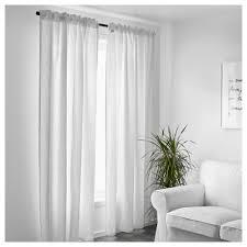 aina curtains 1 pair white 145x250 cm ikea