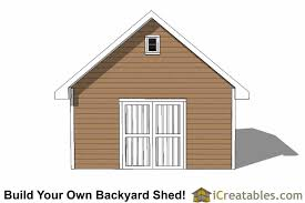 Shed Plans 16x20 Free by 16x20 Traditional Shed Plans Build Your Own Large Shed