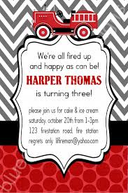 Firetruck Birthday Party Invitation For Boys- Polka Dot And Chevron ... Firetruck Birthday Party Invitation Crowning Details Give Your A Pop Creative Invitations By Tiger Lily Lemiga Fire Truck Firefighter Pinterest Station Firemen Dyi Little Red C353a Digital Fighter Etsy Crafty Chick Designs 25 Lovely Collections Sound The Alarm For Ultimate