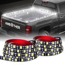 """AMBOTHER 60"""" Truck Bed Lights LED Strip Flexible Light With On-Off ... Aura Led Truck Bed Strip Lighting Kit Rgbw Multicolor Full 2 X 60 Smart Rgb Lights W Soundactivated Function Truxedo Blight Battery Powered Light Bluewater Under Rail Standard Bw Heavy Hauler 2pcs Rock 48 Leds 8 White Square Switch Xprite How To Install Access Youtube Multi Color Super Bright Work 8pcs 2009 2014 Ingrated F150ledscom Amazoncom Homeyard 2pcs Tailgate Cargo 8pc Waterproof Pickup Accsories"""