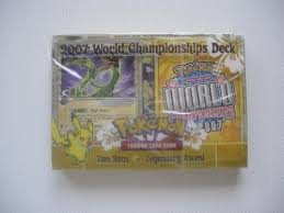 pokemon world chionship decks 2007 legendary ascent tom roos