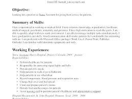 Objective On A Cna Resume Examples With Objectives For Of Example To Produce Perfect