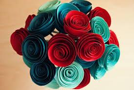 Construction Paper Flower Bouquet Easy