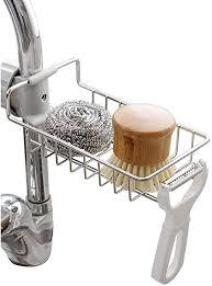 kaxich edelstahl schwammhalter küchen spüle organizer wasserhahn ablauf rack für bürste schwamm badezimmer klein geschirrspülmittel duschgel lagerung