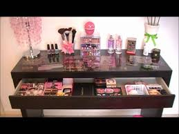 Makeup Desk With Lights by My New Vanity Malm Dressing Table Youtube