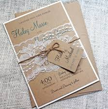 Rustic Wedding Invitation Lace Shabby Chic Suit