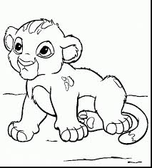 Good Cute Baby Lion Coloring Pages With Page And Free Printable