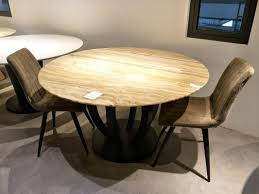 Buy 6 Seater - Round Beige Marble Dining Table Set With ...