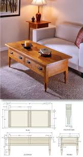 shaker coffee table plans furniture plans and projects