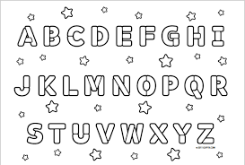 Image Coloring Alphabet Pages For Kids About Abc Printable Free