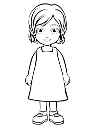 Outline Person Coloring Page