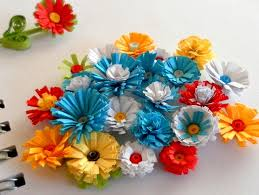 Quilled Fringed Flowers This Is A Tutorial On How To Make Paper