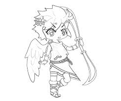 Printable Kid Icarus Dark Pit Weapon Coloring Pages